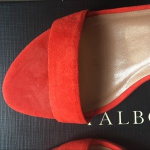 Talbots Strappy Lakia Heels Orange Suede